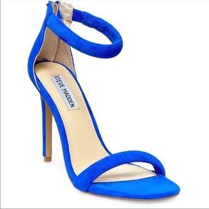 NWOT Steve Madden Fancci Heels in Cobalt Blue